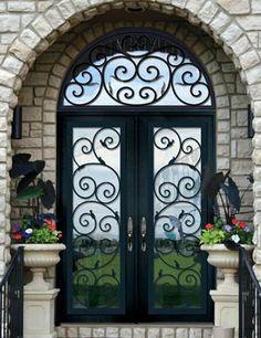 Custom Doors-Leaded Glass Entry Doors-Beveled French Glass-Stained glass Custom Design-Houston-Austin-Dallas-Beaumont-Texas