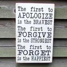 country home decor, inspirational sign, first to apoligize is the bravest, family rules, primitive country decor, rustic decor, hand painted by mockingbirdprimitive on Etsy