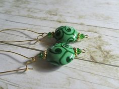 Hey, I found this really awesome Etsy listing at https://www.etsy.com/listing/207496412/green-earringsgreen-spring-earringsgreen