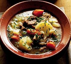"""Celebrate St Patrick's Day with Richard Corrigan's Irish stew - it's big on flavor, even bigger if you make it ahead and quite literally, let it stew..."" #Lamb #recipe"
