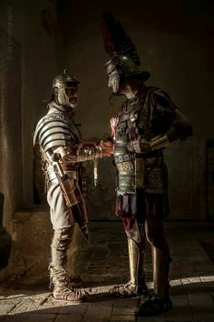 (Also awkward!) The forearm handshake is bogus and only appears on TV, film and graphic novels. (Nice graphics, though. Ancient Rome, Ancient Greece, Ancient History, Samurai, Roman Armor, Rome Antique, Roman Warriors, Roman Legion, Military Armor