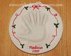 Great classroom craft for the kids to make as a gift for their parents. Full tutorial handprint plaque tutorial at Crafts For All Seasons.