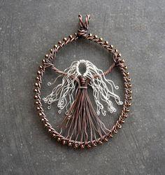 Handmade Silver Haired Goddess Pendant