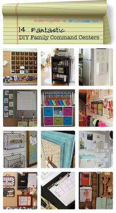 14 Fantastic {DIY} Family Command Centers | curated by 'Shaken Together' blog!