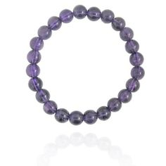 """8mm Round Amethyst Bead Bracelet, 7.25"""" Amazon Curated Collection. $10.00. Made in China"""