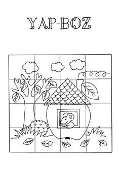 Preschool Activities, Puzzles, Diy, Diagram, Valentines, Printables, Learning, Scissors, Autumn