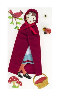 Amazon.com: Jolee's Boutique Poseable Dimensional Sticker, Red Riding Hood: Arts, Crafts & Sewing