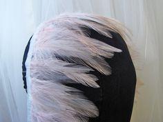 Light pink feather trim - $18.95 per yard
