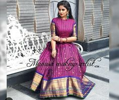 Trendy sewing patterns for women dresses link 17 ideas Long Gown Dress, Sari Dress, Anarkali Dress, Saree Gown, Long Frock, Frock Dress, Long Gowns, Saree Blouse, Half Saree Designs