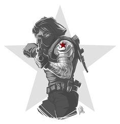 Bucky Barns - Sketch by MisterLIAR.deviantart.com on @DeviantArt