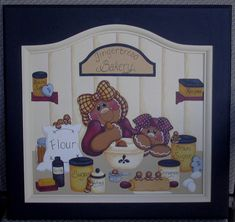 Gingerbread Painting Patterns | Gingerbread Bakery instructional painting pattern packet