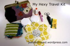 cute hexy travel kit @Brenda - Just a Bit Frayed
