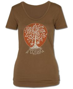 SoulFlower-Treehugger Organic Women's T-Shirt-$26.00 other cute boho outfits