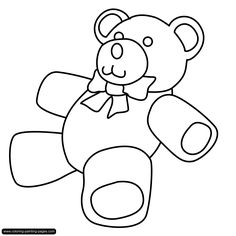 Teddy Bear Colouring Pages Printable