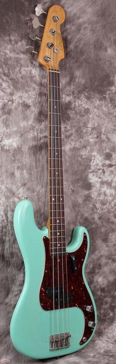 1962 Fender Precision Sea Foam Green > Guitars : Bass - Fiesta Finishes | Gbase.com #BassGuitar