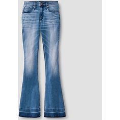 Women's High-rise Flare Jeans - Mossimo™ Medium Wash 18R : Target (€27) ❤ liked on Polyvore featuring jeans, highwaist jeans, flared jeans, high waisted flared jeans, medium wash jeans and high-waisted jeans