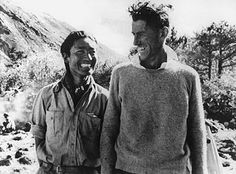 Edmund Hillary & Tenzin Norgay  First to reach the top of Everest