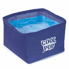 Cool Pup Portable Pet Bowl - Blue