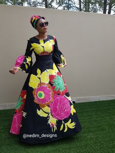 Ankara Maxi dress  African Print  @nedim_designs