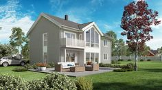 Bilderesultat for vinduer store Home Fashion, Home Remodeling, House Ideas, Loft, Exterior, Mansions, House Styles, Houses, Decorations
