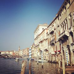 Next time I go, I WILL ride in a gondola. Beautiful Venice Grand Canal.  #Travel #Charm