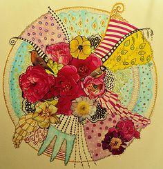 Collage & ink mandala