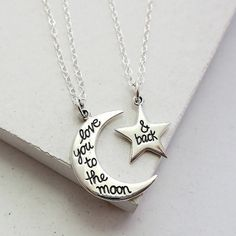 Necklace from twitches necklaces pinterest jewlery fandom to the moon and back necklace set mozeypictures Gallery