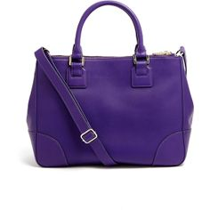 Tory Burch Electric Purple Robinson Double Zip Tote Bag ($688) found on Polyvore