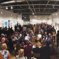 Huge gallery huge turnout. (My painting is down the other end!) #royalsocietyofmarineartists #exhibition #london #art