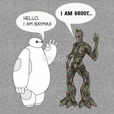 Baymax and Groot - tshirt