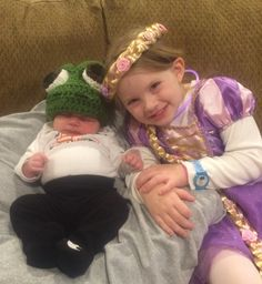 How cute is this Pascal and Rapunzel?! The Pascal hat was made by Marilyn, using the Crochet Pascal Hat Pattern. Great work, Marilyn!