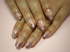 Pastel French manicure with pattern :: one1lady.com :: #nail #nails #nailart #manicure