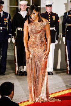 Michelle Obama's State-Dinner Dresses