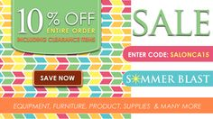 SalonCA is having a Summer SALE! 10% off entire order, including clearance!  http://salonca.com/