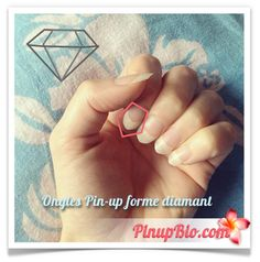 Mes ongles pin-up forme diamant #ongles #pinup #diamant