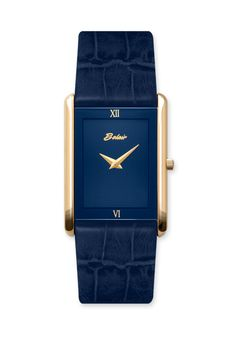Gents Stainless Steel Blue Face Watch with Blue Leather band and Sapphire Crystal. Stylish Watches, Luxury Watches For Men, Cartier Tank Mc, Mens Style Looks, Fashion Watches, Men's Watches, Watches Photography, Leather Watch Bands, Engagement Jewelry