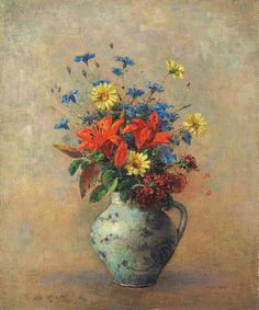 Odilon Redon,  Vase de fleurs. http://fr.wahooart.com/A55A04/w.nsf/OPRA/BRUE-7YSCQX