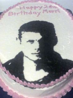Jensen Ackels of Supernatural. My 28th Bday cake.