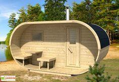 Sauna d'Extérieur Oval (Poêle en option)