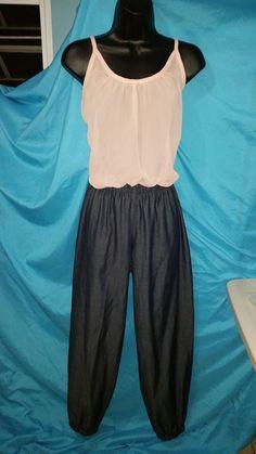 Pantalón en mahón liviano con elastic en la cintura y tobillos!!