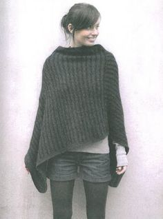 modele poncho tricot femme