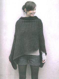 modele tricot poncho femme