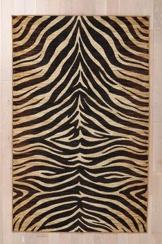 WANT for my living room. Tiger Print Rug  #UrbanOutfitters