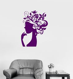 Wall Decal Vinyl Sticker Beauty Hairdress Salon By VinylDecalsU - Custom vinyl wall decals for hair salonvinyl wall decal hair salon stylist hairdresser barber shop