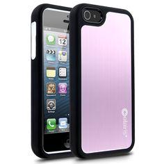 Cellairis Rapture Elite Aluminum Case for Apple iPhone 5 - Black, Pink & White iPhone 5 Case