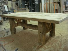 barn wood table Want for table on the porch!