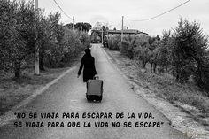 """""""No se viaja para escapar de la vida, se viaja para que la vida no se escape"""" #frases #quotes #viajes #travel"""