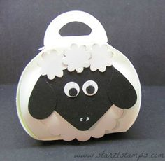 My tweaked Curvy Keepsake Box Sheep Punch art! www.starzlstamps.com