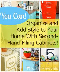 Add style and organization with upcycled second hand filing cabinets