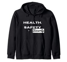 Health, Safety and Security - Safety Slogan Zip Hoodie MUGAMBO